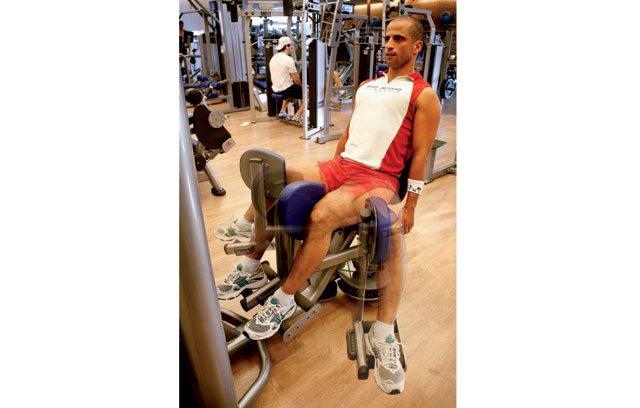 Treino para blindar os joelhos - cadeira adutora