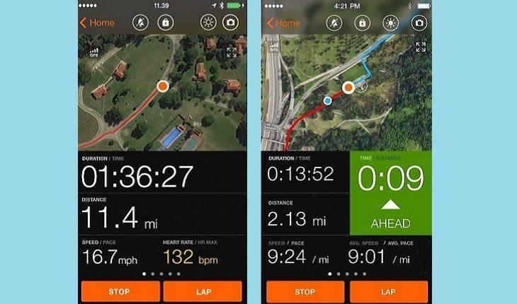 Captura de tela do app Sports Tracker