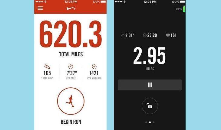 Captura de tela do app Nike Run Club