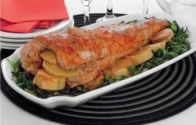 receita de peixe assado com batata doce