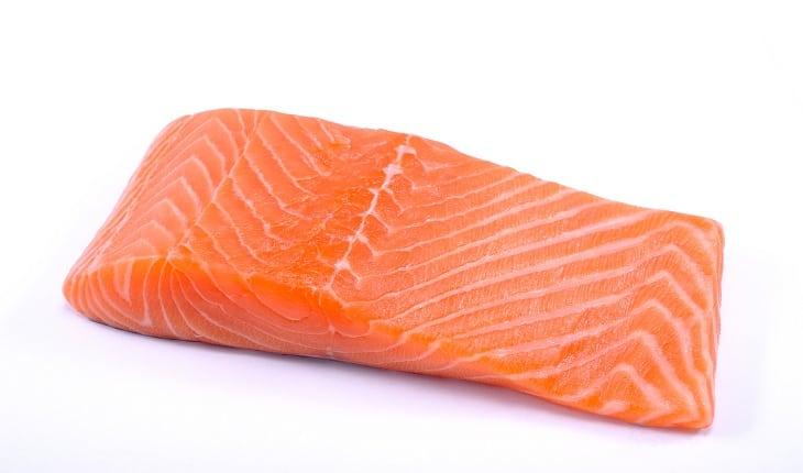 foto de um pedaço de salmão