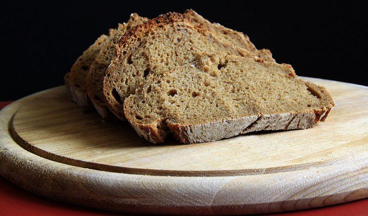 Pão integral cardápio saudável