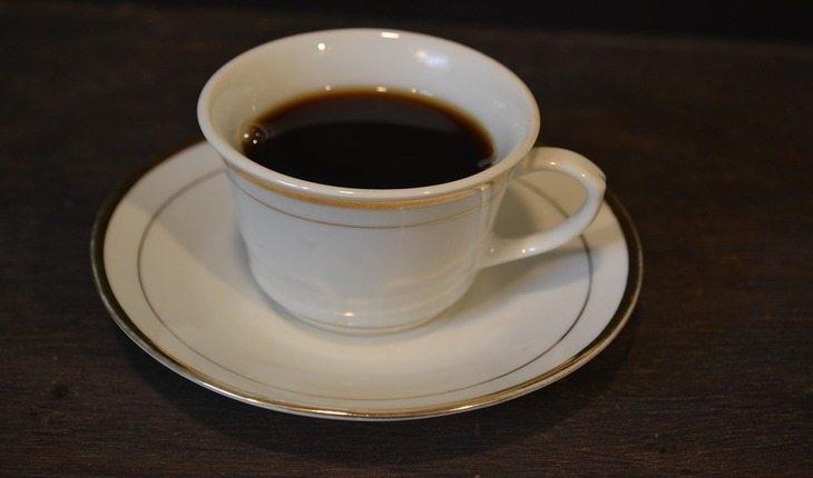 xícara de café cardápio saudável
