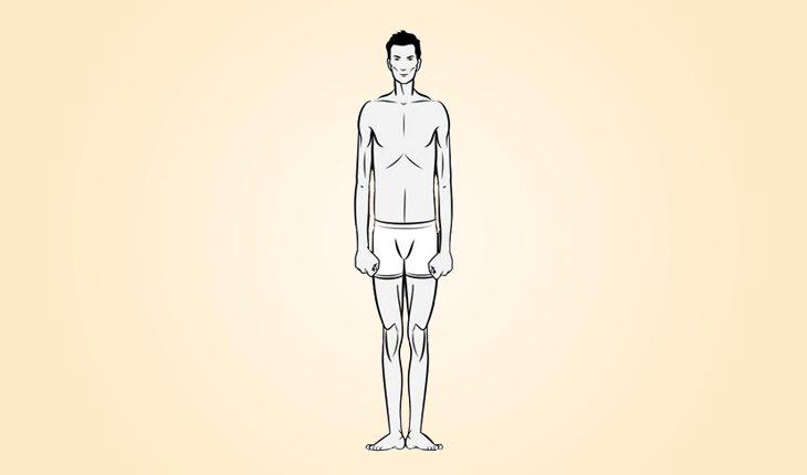 ilustração do biotipo de um ectomorfo