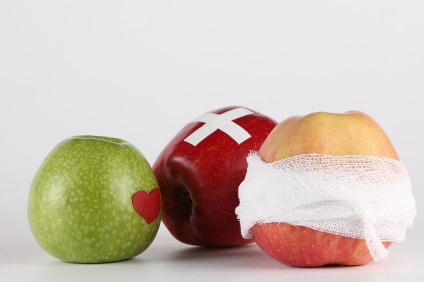 cicatrização frutas