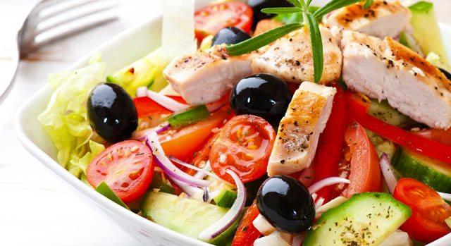 salada de legumes grelhados com limao siciliano