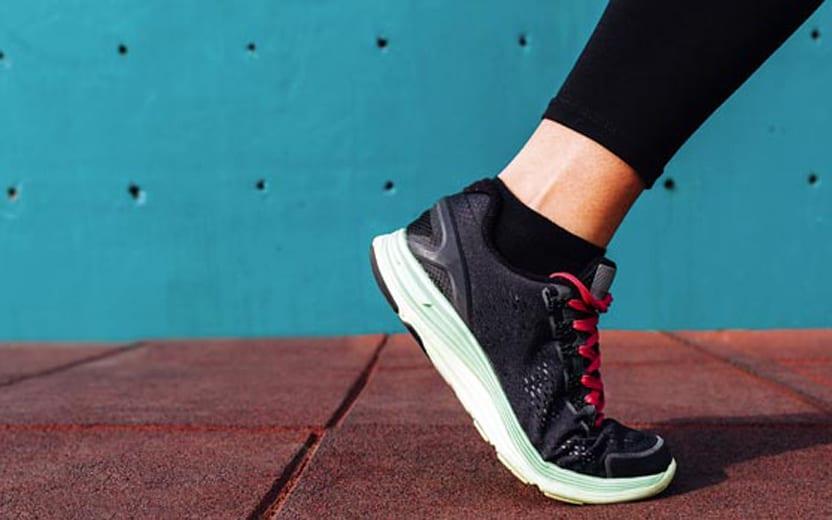 pés de corredor