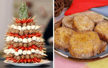 Receitas fit para a noite de Natal: torre de tomate com chocolate e rabanada