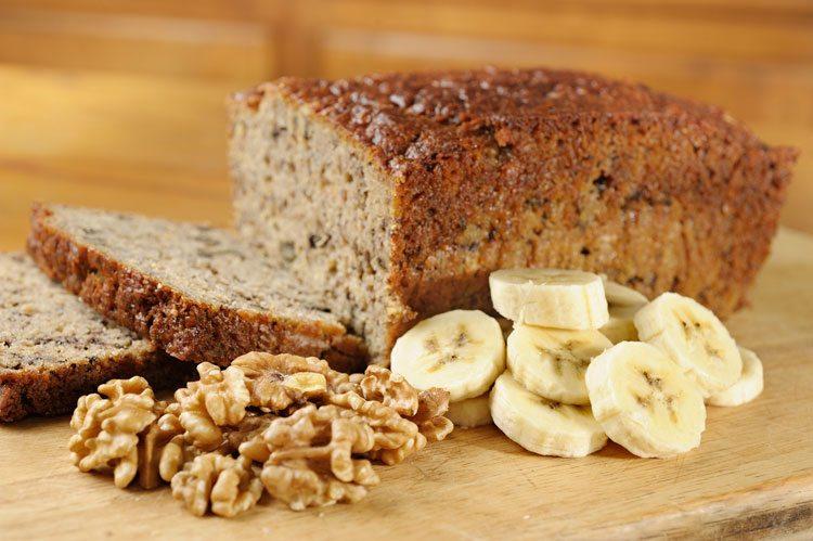 pão de banana sem gluten