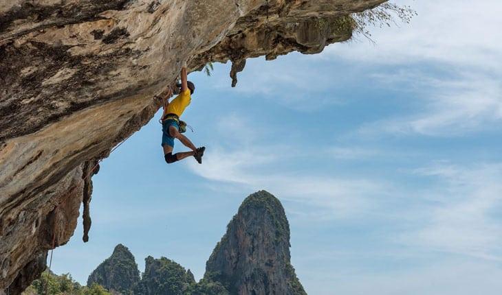 benefícios da escalada