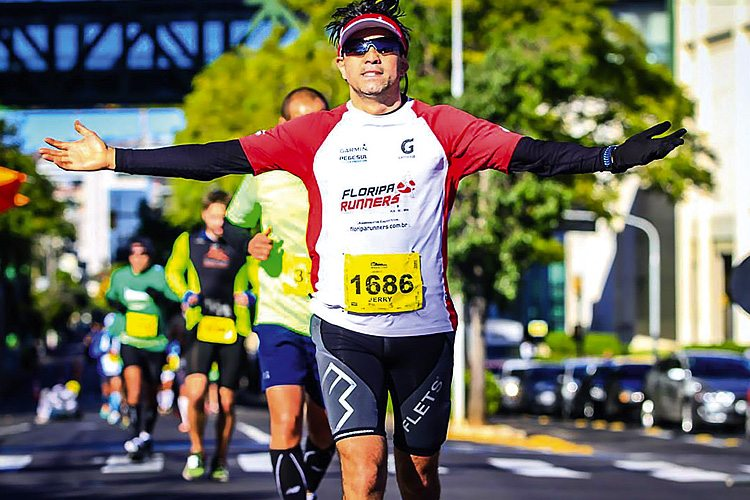 Corredor na Maratona 42km de Porto Alegre