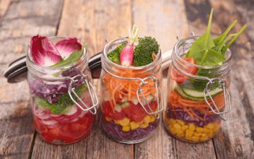 Receitas de salada no pote