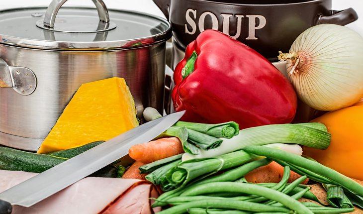 caldo de legumes sal ou sódio