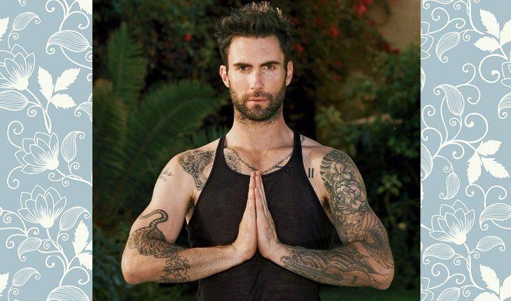 Celebridades que praticam yoga: ADAM LEVINE
