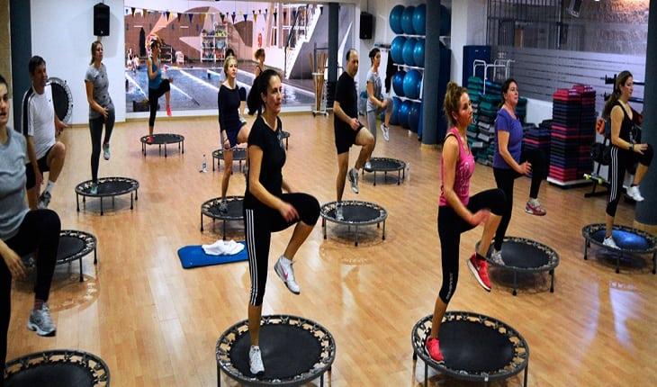 foto de uma aula de jump
