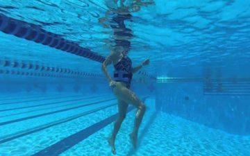 Correr dentro da piscina melhora a técnica e o desempenho