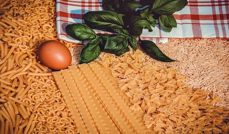 diversas massas comestíveis alimentação