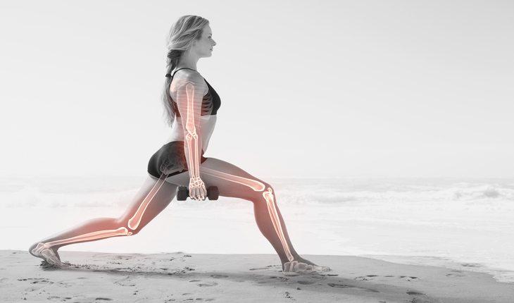Imagem de ossos e articulações em uma mulher damasco