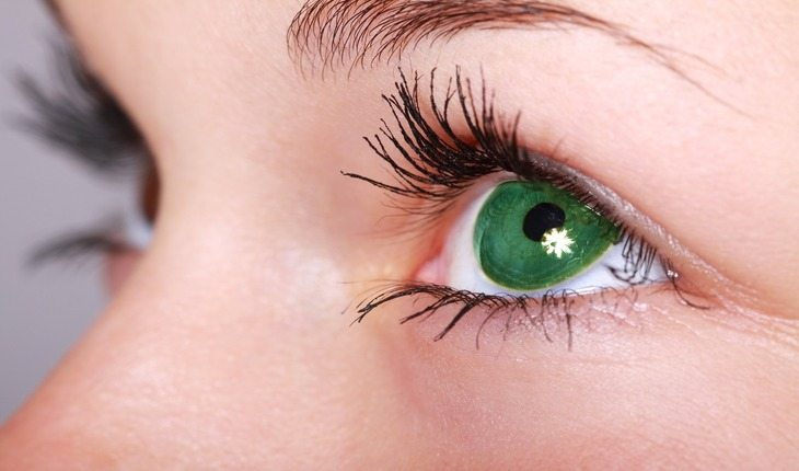 imagem de olhos humano damasco
