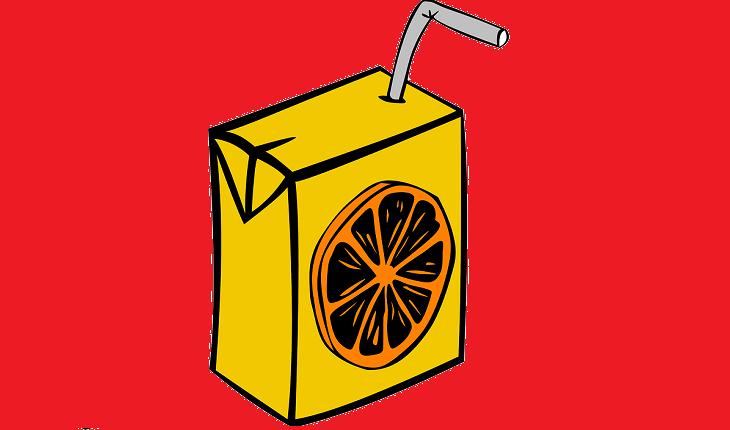 Caixinha de suco falsos saudáveis