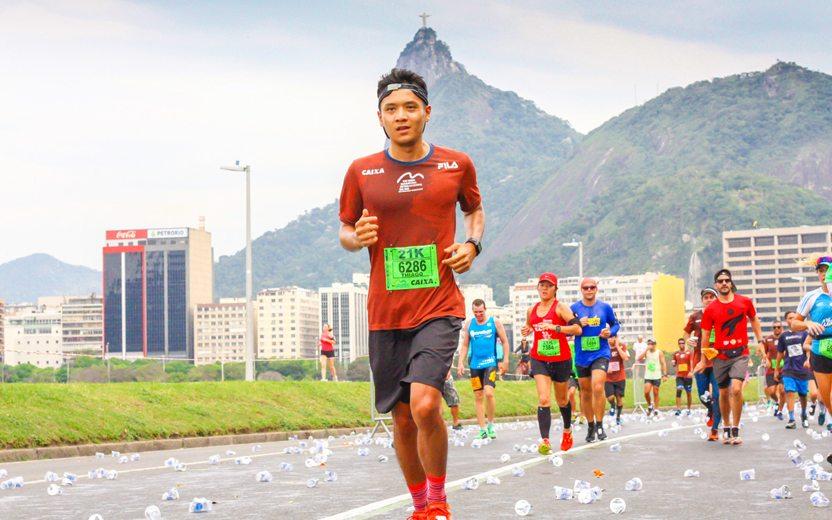 primeira meia maratona de Thiago
