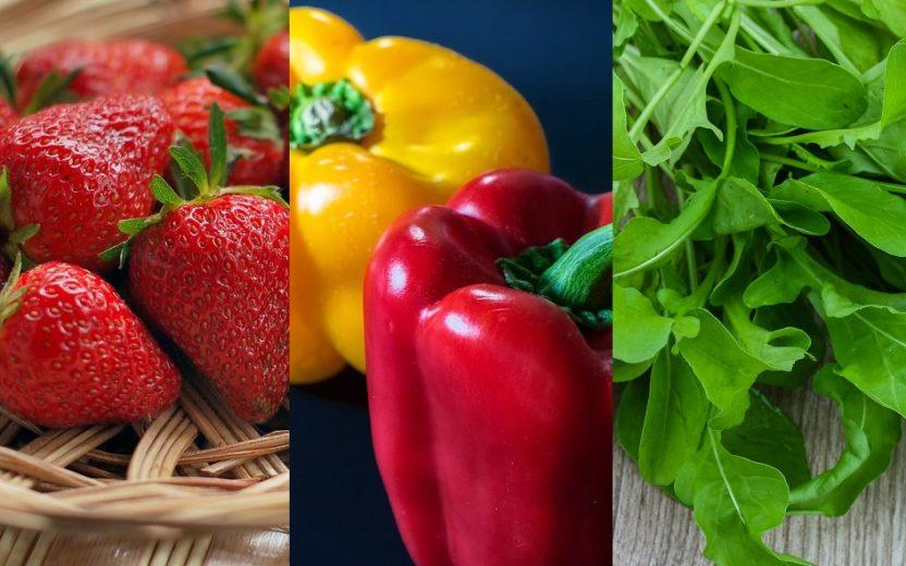 Frutas, legumes e verduras da época.