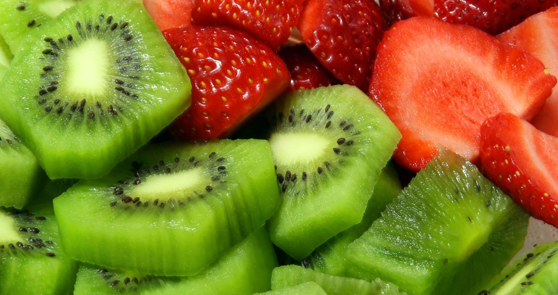 seca barriga - morango e kiwi