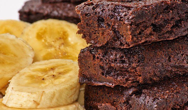 receitas saudáveis - brownie de banana