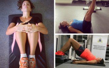 Fotomontagem com imagens de Ivete Sangalo praticando Pilates