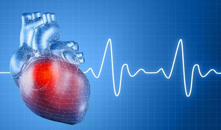 ilustração de um coração batendo atividade física