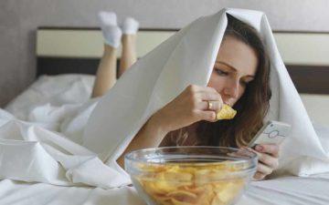 comer antes de dormir
