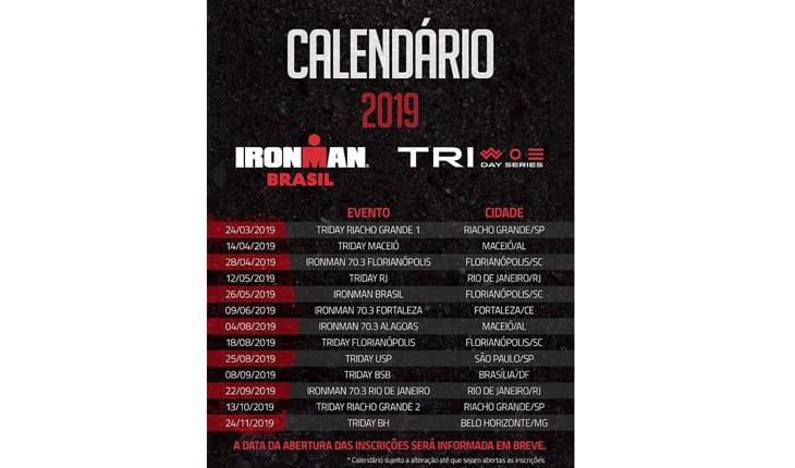 calendário da unlimited sports